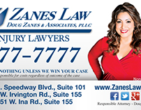 Zanes Law Print Advertising