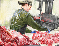 Journalistic Illustration: Butcher