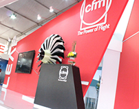 CFM stand @ India Aviation Hyderabad