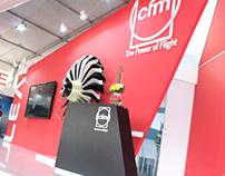 CFM stand @ India Aviation Hyderabad