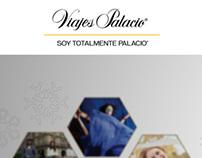 Experiencias Palacio, Landing page