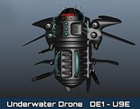 MAYA Modelling: DE1-U9E Underwater Drone