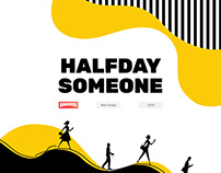 'HalfDay Someone' Event Website Landing Page