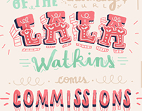 Hand Lettered Open for Commissions Poster