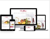 "RWD site of restaurant ""Kolory Wina"""