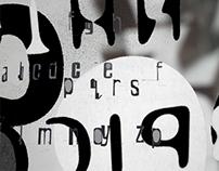 b&w typography. posters & logos