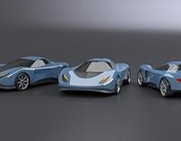 Blue toy car concept