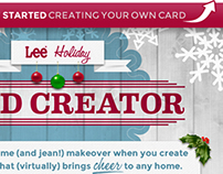Lee Jeans Holiday Card Creator Facebook App