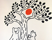 Wall painting at floresta