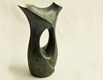 Ceramic wine carafe