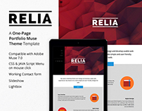 Relia - One Page Portfolio Muse Theme