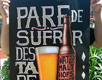 Pare de sufrir, destape una cerveza - Poster