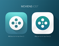 iOS7 Icon - Moviens