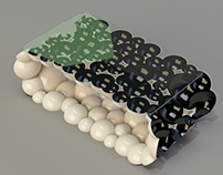 Jazz bubbles coffee table concept.
