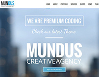 Mundus - a one page Wordpress Theme
