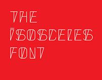The Isosceles font