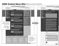 SSC Employee Comms Website Wireframes