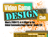 Poster - Video Game Design Club