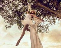 White Gemma Aerialist Photography Concept Work