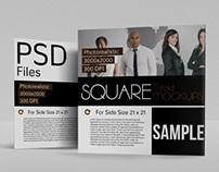 Square Tri-fold Mock-Ups
