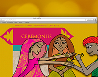Shivali and Sid's wedding website