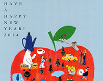 Office GOTO 2014 New-Year's-card illustration