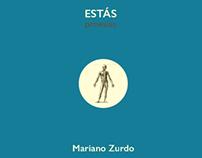 """Libro """"Estás (proesías)"""" de Mariano Zurdo."""