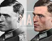 Colorization: Col Claus Schenk Graf von Stauffenberg