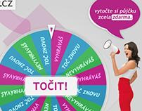 """""""Wheel of Fortune"""" Facebook App Design"""