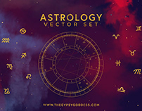 Astrology Vector Set Birth Chart By:The Gypsy Goddess