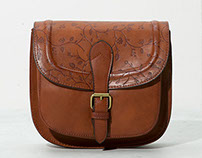 Embossed print design for Bershka Bag