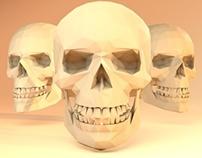 Low-poly Skulls