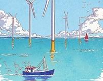 L'éolien en mer / Offshore wind turbine