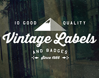 10 Vintage Labels Pack