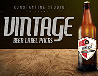 Vintage Beer Labels Pack