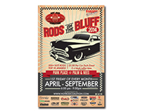Rods on the Bluff Poster