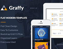 PSD Template - Graffy Flat Modern