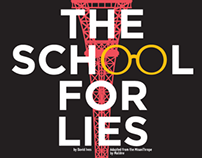 The School For Lies Campus Production Poster