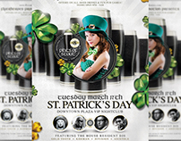 St. Patrick's Day Black Beer Special Flyer Template