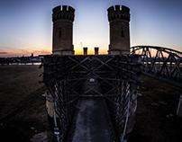 Road Bridge on the Vistula River, Tczew, Poland