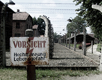 Auschwitz photography and Leaflet design