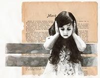 As deaf as a post (watercolour work)