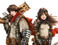 Human Couple - Shattered RPG