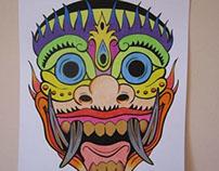 MASK - color pencils - 2014