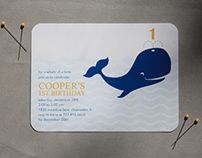 Birthday invitations for a little boy's 1st birthday
