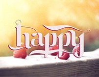 Lettering - happy :)
