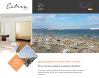 Hotel Estrea Landing Page