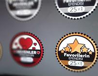 Retro Badges - Free PSD