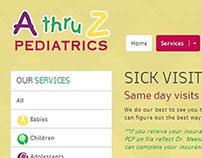 A thru Z Pediatrics - website