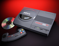 Commodore Amiga CD32 product shot recreated in 3d